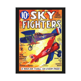 Sky Fighters - Feb 1935a_Pulp Art Canvas Print