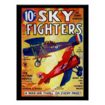 Sky Fighters - Feb 1935a_Pulp Art Poster