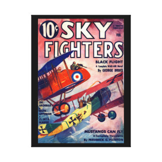 Sky Fighters - Feb 1936a_Pulp Art Canvas Print