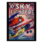Sky Fighters - Feb 1936a_Pulp Art Poster