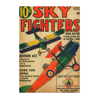 Sky Fighters Magazine Cover Canvas Print