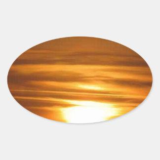 Sky Fire Oval Sticker