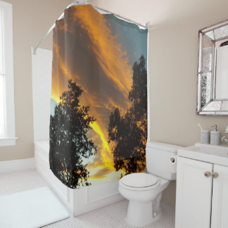 Sky Flame Shower Curtain