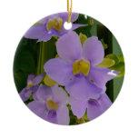 Sky Flower Vine Tropical Purple Floral Ceramic Ornament