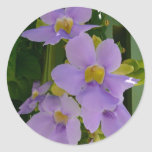 Sky Flower Vine Tropical Purple Floral Classic Round Sticker