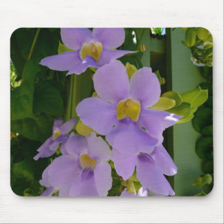 Sky Flower Vine Tropical Purple Floral Mouse Pad