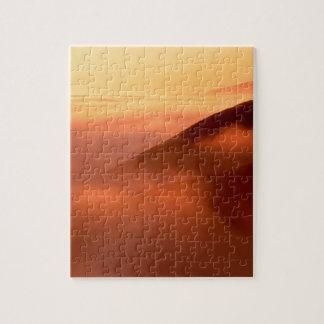 Sky Fog Coastal Hills Mendocino California Puzzle