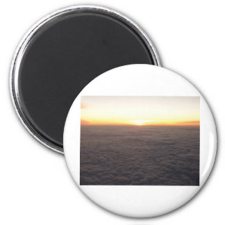 sky from 10000 feet 2 inch round magnet