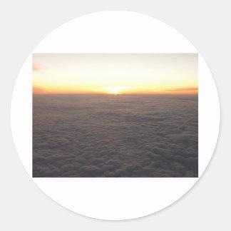 sky from 10000 feet classic round sticker