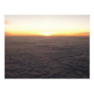 sky from 10000 feet postcard