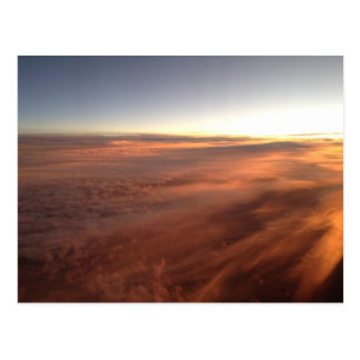 Sky from a plane 5 postcard