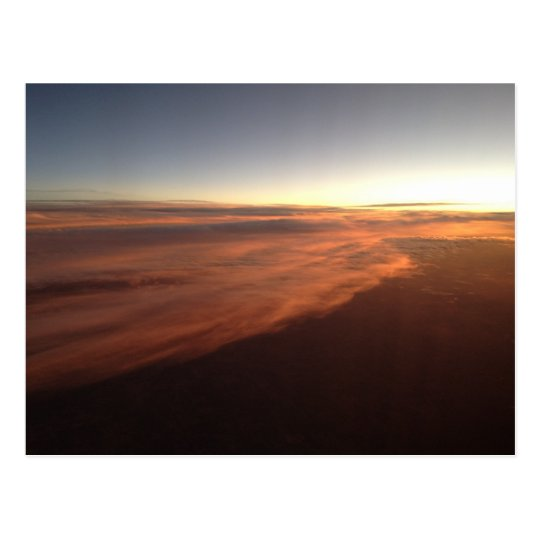 Sky from a plane 7 postcard