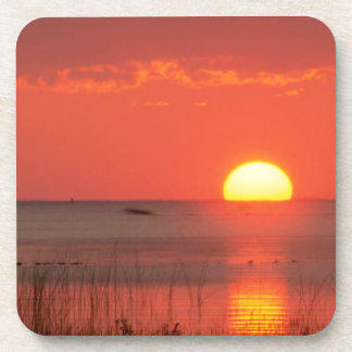 Sky Golden Moment Gulf Mexico Florida Beverage Coaster