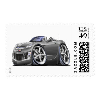 Sky Grey Car Postage Stamp