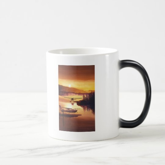 """""""Sky Harbor"""" Float Plane Watercolor Magic Mug"""