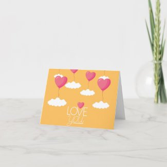 Sky Hearts Valentine's Day Card
