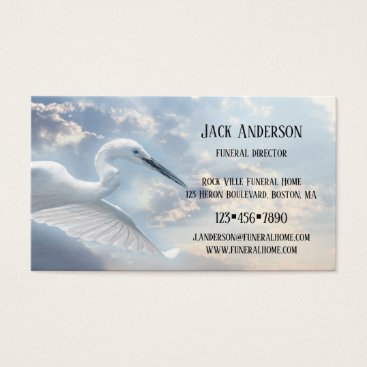 Professional Business Sky Heron Funeral Director Business Card