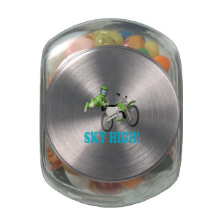 Sky High 3 Glass Candy Jars