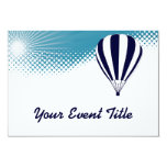 sky high ballooning 3.5x5 paper invitation card