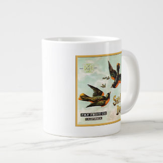 Sky High Brand Fruit Labels Large Coffee Mug