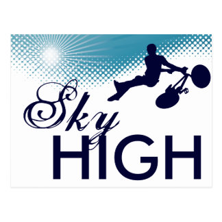sky high cycles postcard