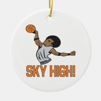 Sky High Double-Sided Ceramic Round Christmas Ornament