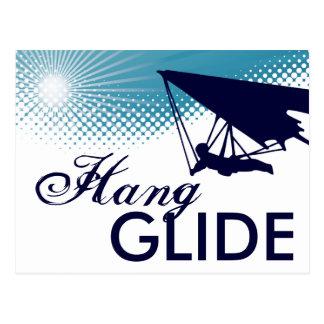 sky high hang glide postcard