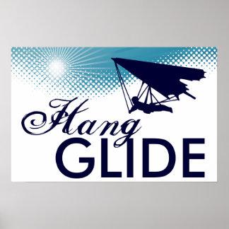 sky high hang glide poster