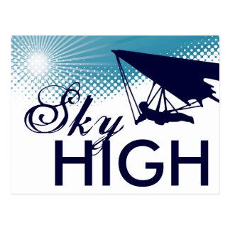 sky high hang gliding postcard