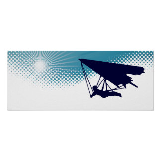 sky high hang gliding poster