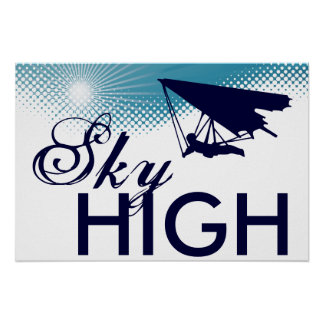 sky high hang gliding posters