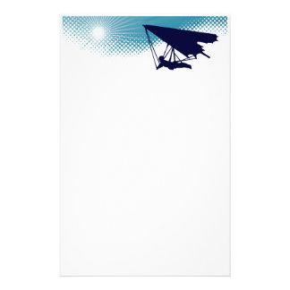sky high hang gliding personalized stationery