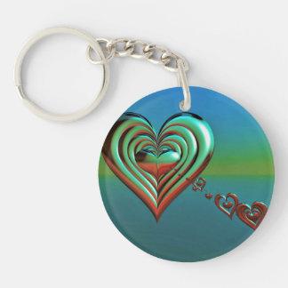 Sky High Hearts Keychain