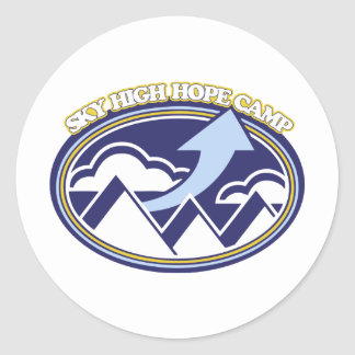 Sky High Hope Camp Round Stickers