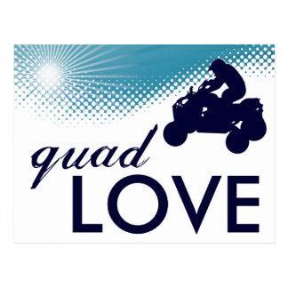 sky high quad love postcard