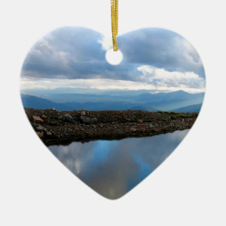 Sky High Reflection Double-Sided Heart Ceramic Christmas Ornament