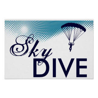 sky high skydive poster