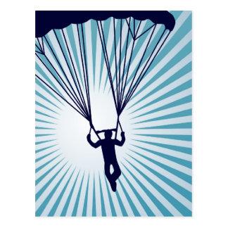 sky high skydiver postcard