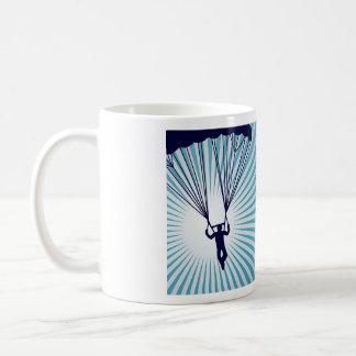 sky high skydiving coffee mug