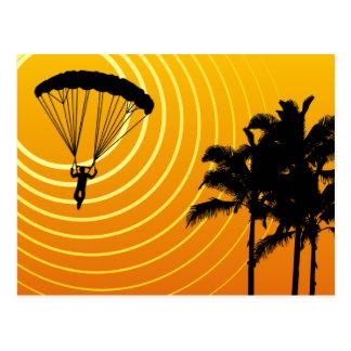sky high skydiving postcard