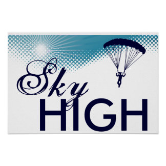 sky high skydiving poster