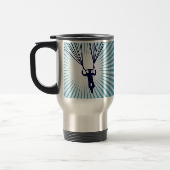 sky high skydiving travel mug