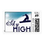 sky high snowboarding stamp
