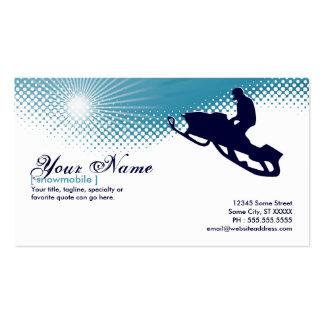 sky high snowmobile business card template