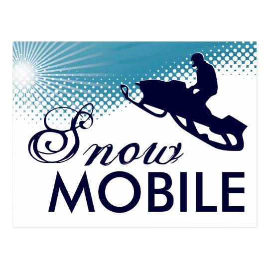 sky high snowmobile postcard