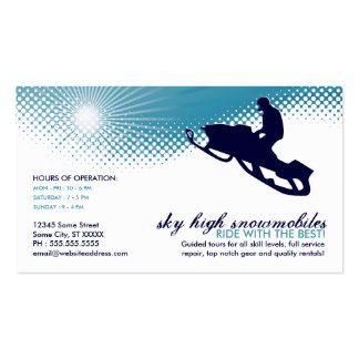sky high snowmobiling business card
