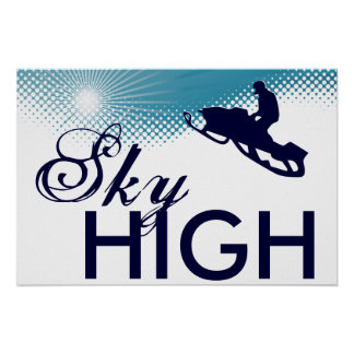 sky high snowmobiling poster