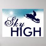 sky high snowmobiling print