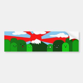 sky & hills car bumper sticker