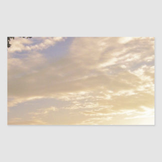 Sky is falling rectangular sticker